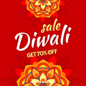 Contexte de vente de diwali rouge