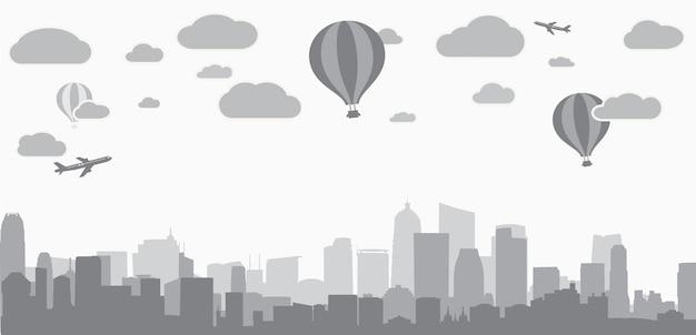 Contexte de la ville pour la publicité des services immobiliers