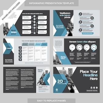 Contexte de la ville présentation de l'entreprise avec le modèle de l'infographie.