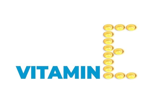 Contexte de la vitamine e. pilules de gel