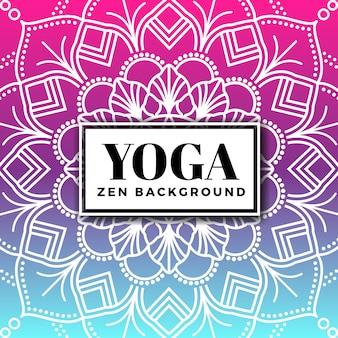 Contexte de yoga et zen avec mandala