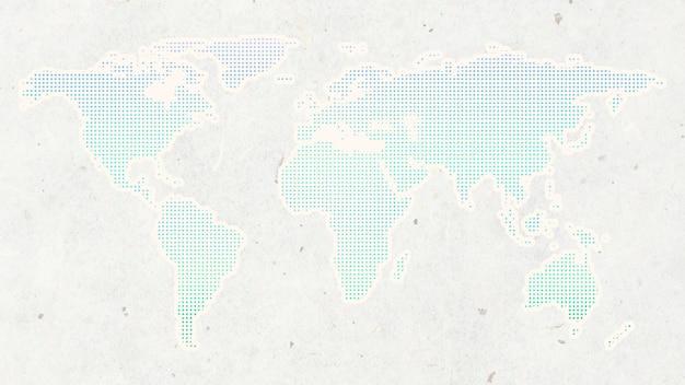 Continents du vecteur de fond du monde