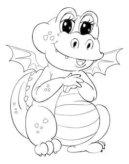 Contour animal pour dragon mignon