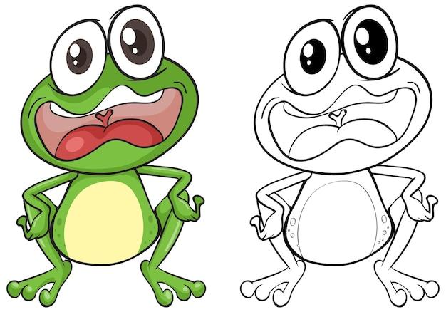 Contour animal pour grenouille