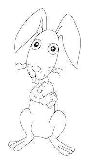 Contour animal pour lapin laid