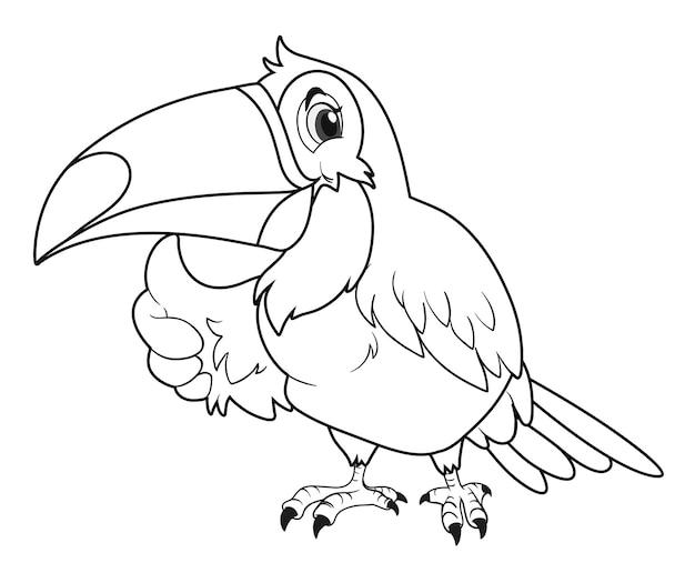 Contour animal pour oiseau toucan