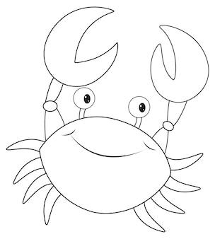 Contour animal pour petit crabe
