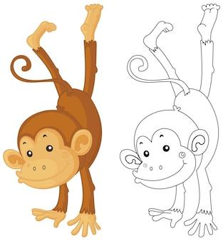 Contour d'animal pour le retournement de singe