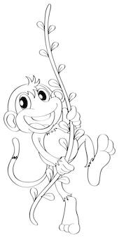 Contour animal pour singe sur vigne