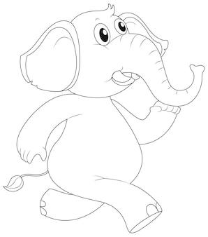 Contour des animaux pour la course d'éléphants