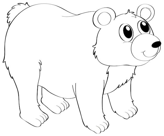Contour des animaux pour l'ours grizzli