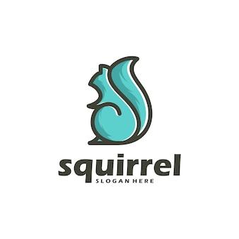 Contour et couleur d'écureuil de vecteur