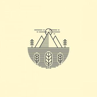 Contour du logo de la montagne