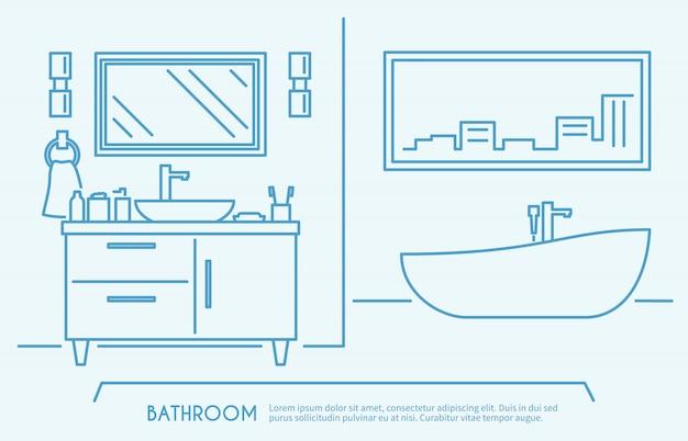 Contour de meubles de salle de bain