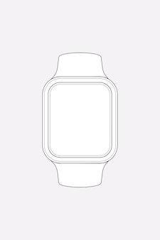 Contour de smartwatch, illustration vectorielle de dispositif de suivi de la santé