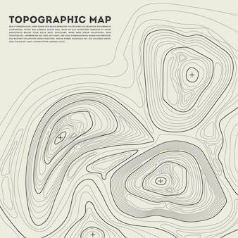Contour topographique en