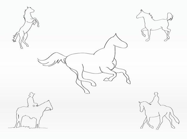 Les contours de chevaux