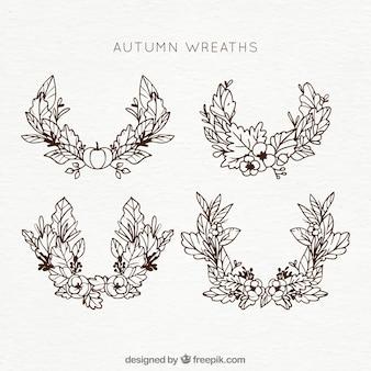 Contours des couronnes d'automne