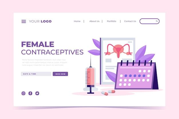 Contraceptifs féminins - page de destination