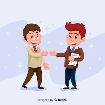 Contrat de caractère du vendeur smiley