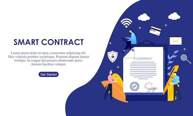 Contrat de page de destination internet numérique.