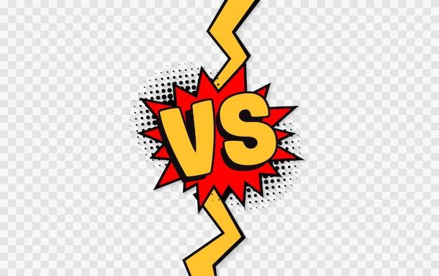 Contre. logo de la lettre versus. bataille vs match, jeu
