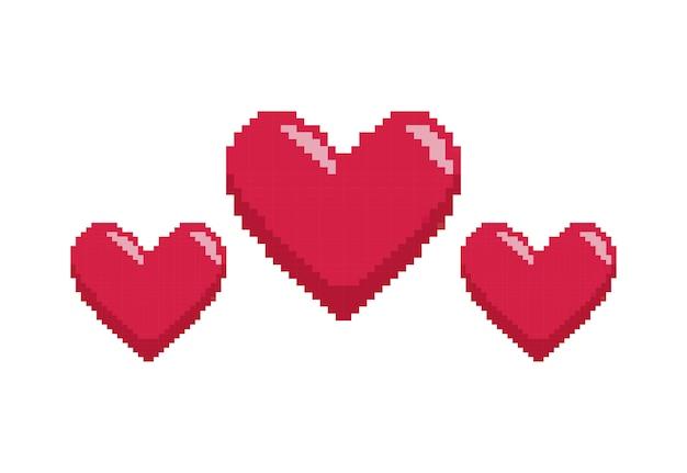 Contrôle du jeu vidéo avec pixelisation du coeur