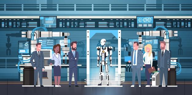 Contrôle des personnes robot production concept concept ingénierie automatisation industrielle fabrication de produits robotiques