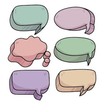 Conversation de bulles de discours 3d comique cool