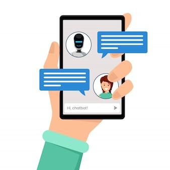Conversation avec chatbot