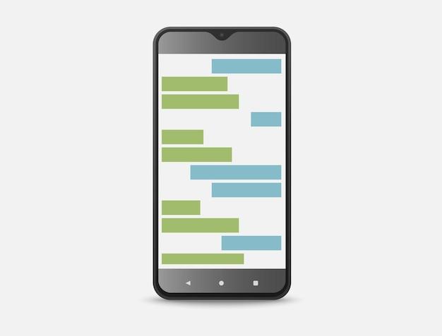 Conversation de deux personnes via l'application de chat sur le smartphone