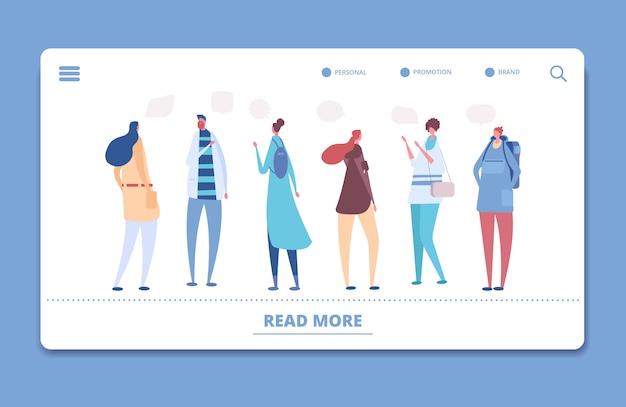 Conversation, page de destination de la communication de groupe