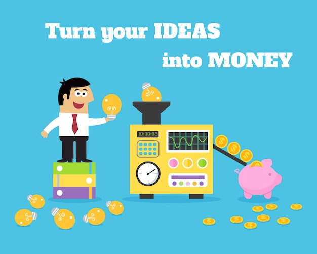Convertisseur d'argent d'idées de la vie des affaires
