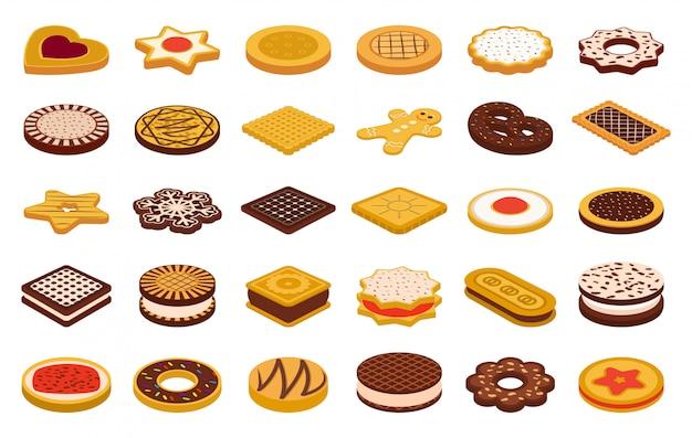 Cookie de dessin animé alimentaire sur blanc