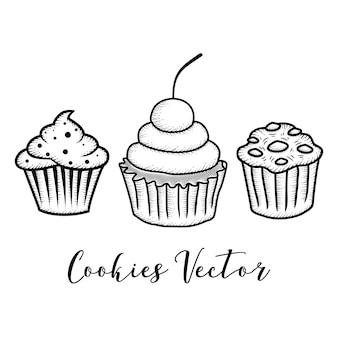 Cookie dessiné à la main