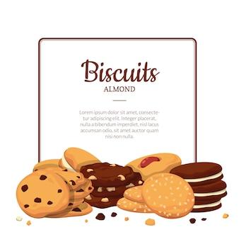 Cookies de bande dessinée de cadre