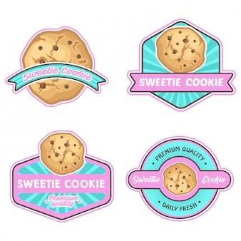 Cookies logo stock vector ensemble
