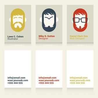 Cool cartes de visite pour les concepteurs et illustrateurs