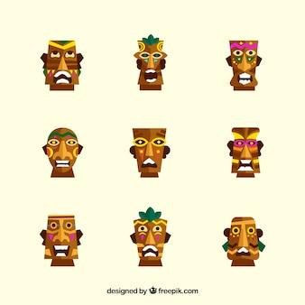 Cool collection de petits masques tiki