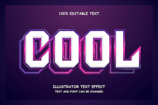 Cool, effet de texte modifiable en 3d style néon moderne