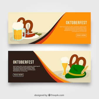 Cool pack of oktoberfest banners