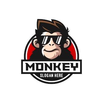 Cool singe logo design vecteur illustrateur