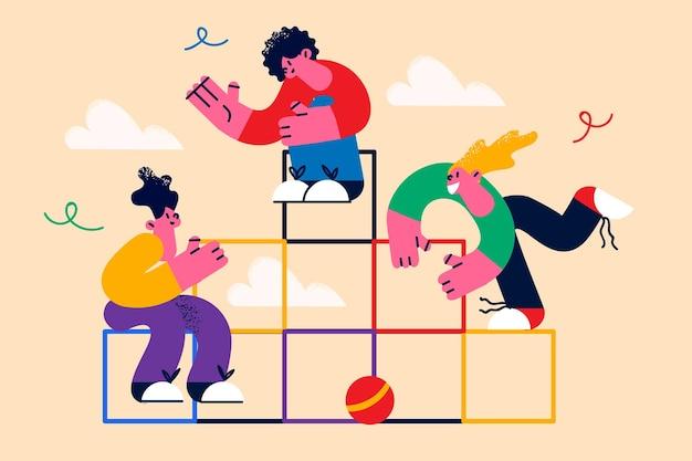 Coopération de travail d'équipe et concept de travail ensemble