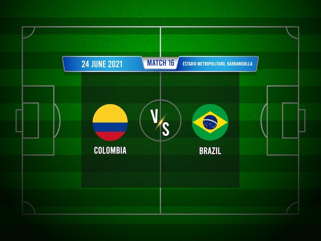 Copa america football match colombie vs brésil