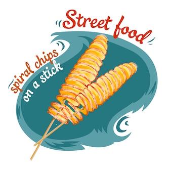 Copeaux de spirale. nourriture de rue