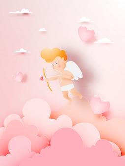 Copide tombant amoureux de beaucoup de cœur