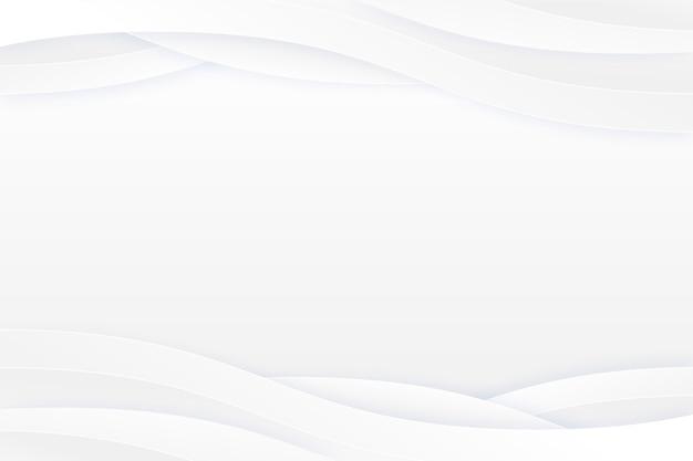 Copier l'espace fond blanc ondulé