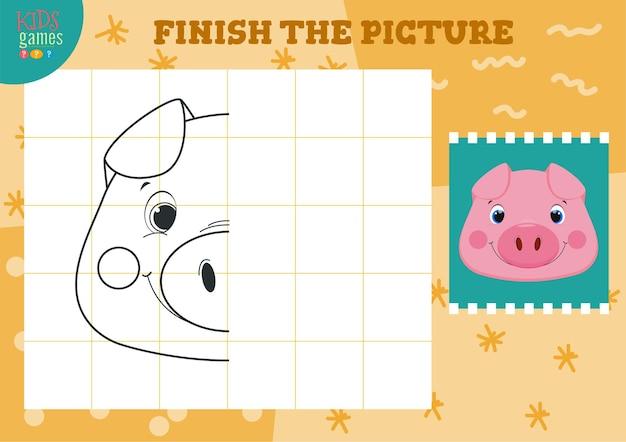 Copiez et complétez l'image. comment dessiner un mini-jeu.