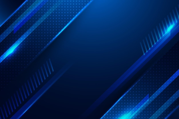 Copiez l'espace abstrait bleu numérique fond