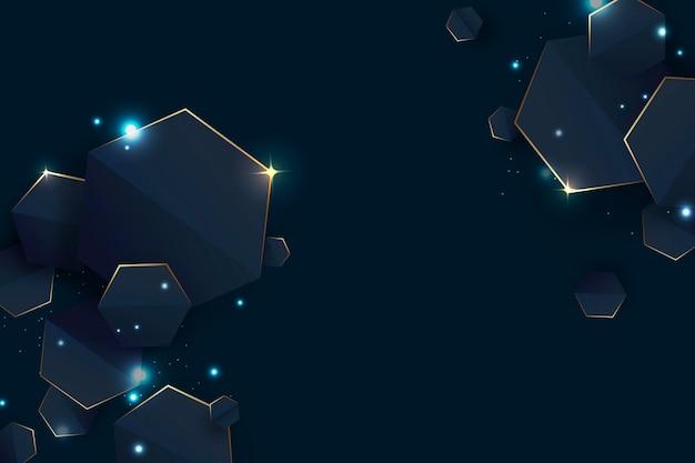 Copiez l'espace fond géométrique dégradé futuriste